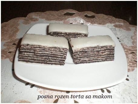 posna rozen torta sa makom