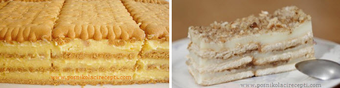 posna keks torta recept