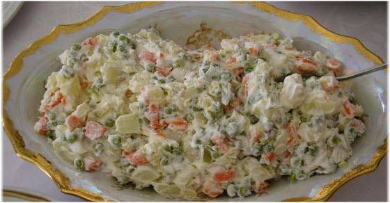 Posna ruska salata recept